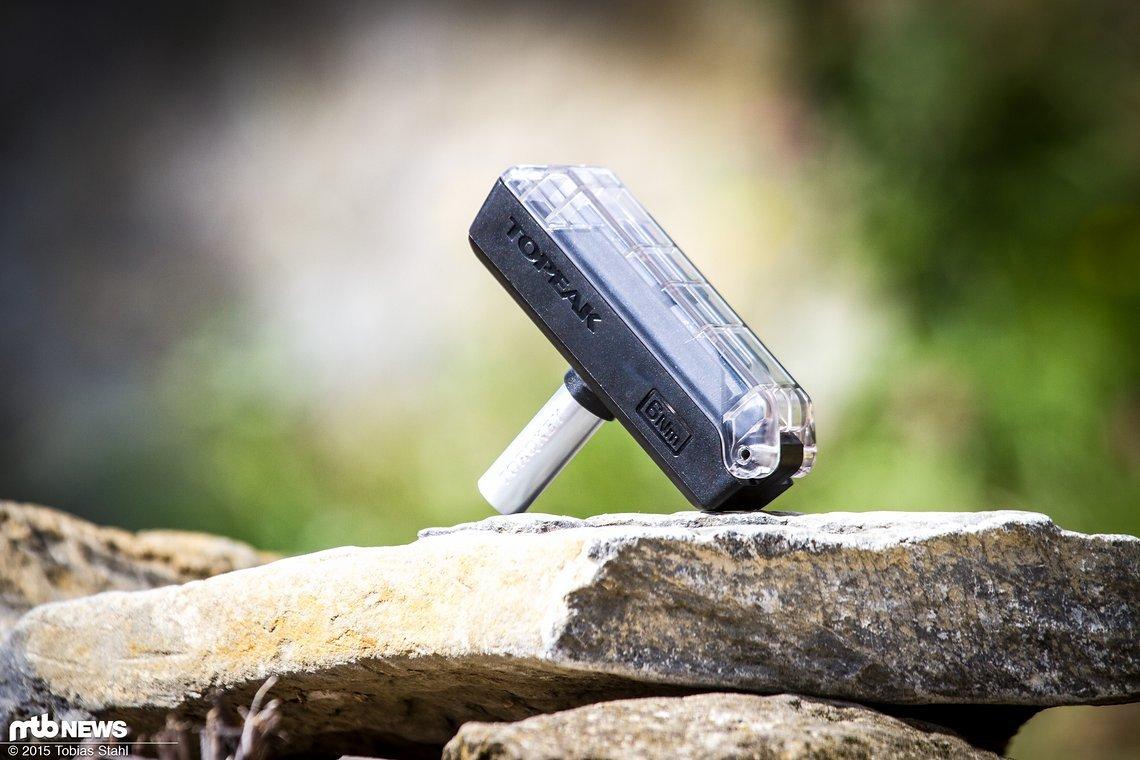 Klein: der Topeak Torque 6 Drehmomentschlüssel ist klein genug, um auch mit auf Touren genommen zu werden