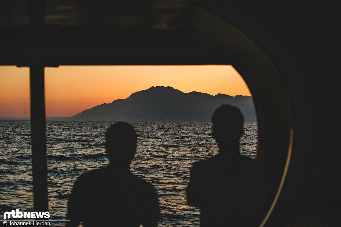 Die Sonne geht unter und wir landen kurze Zeit später wieder an Bodrum an. καληνύχτα!