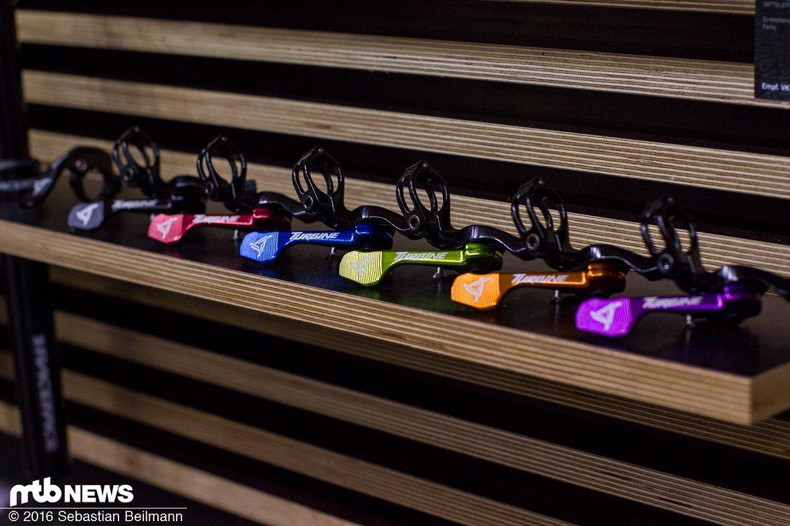 Auch den Hebel für die Remote-Sattelstütze wird es ab dem nächsten Jahr in verschiedenen Farben geben