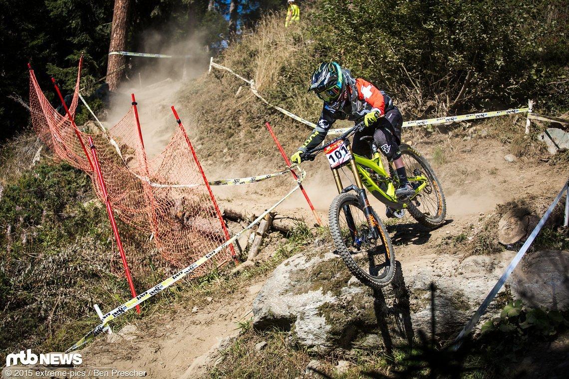 Emilie Siegenthaler holt sich 2015 in Verbier den Schweizer Titel