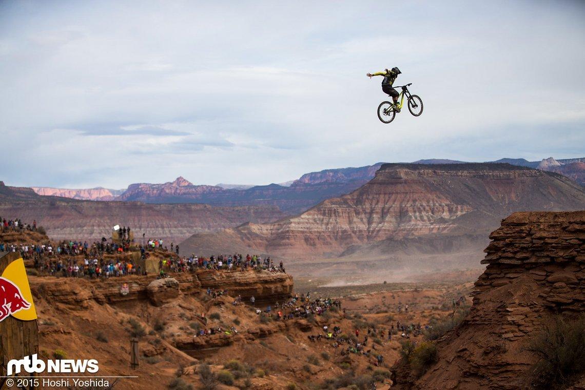 Das Canyon Gap ist einer der legendären Red Bull Rampage-Sprünge