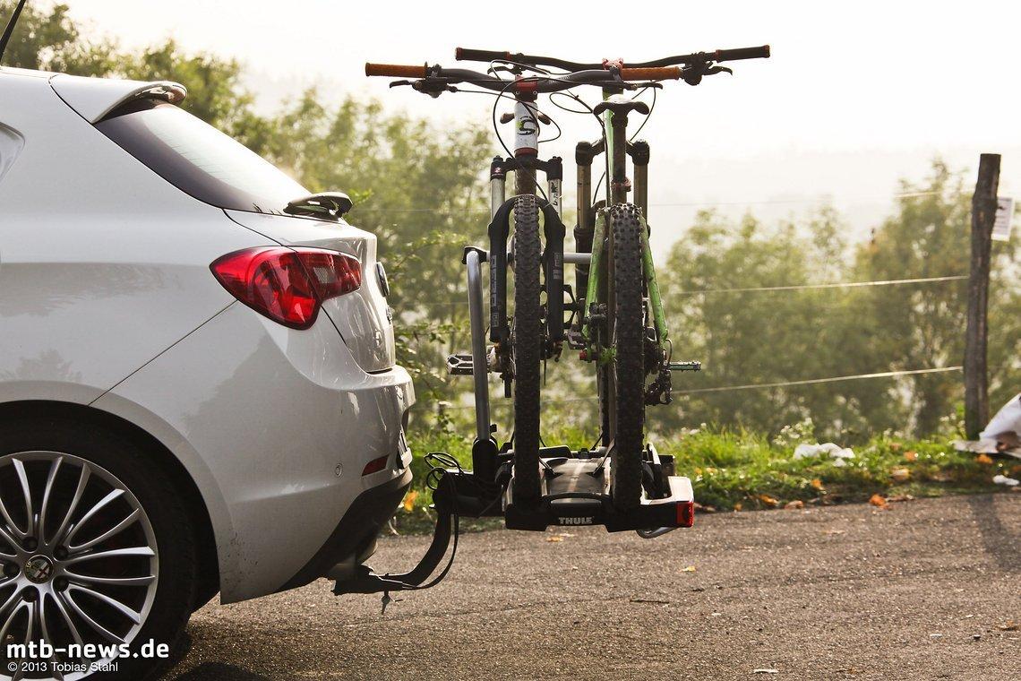 test thule easyfold 931 praktischer klappbarer fahrradtr ger. Black Bedroom Furniture Sets. Home Design Ideas