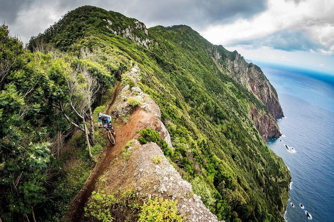 Enduro World Series #3 Madeira, spektakuläre Aussicht auf Stage 8!