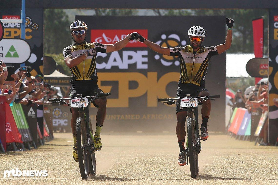 Das Cannondale überraschte alle und gewann auch die erste Etappe des Cape Epic