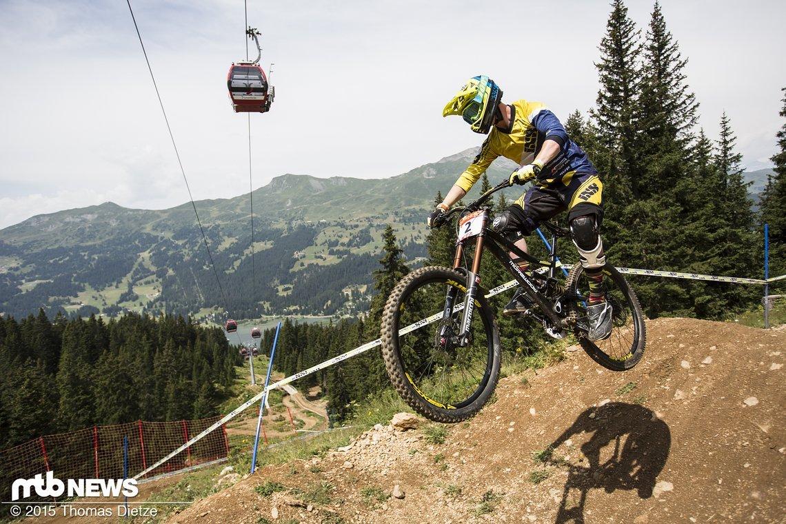 Lutz Weber wird das Rennen zum iXS Swiss Downhill Cup in Lenzerheide gewinnen