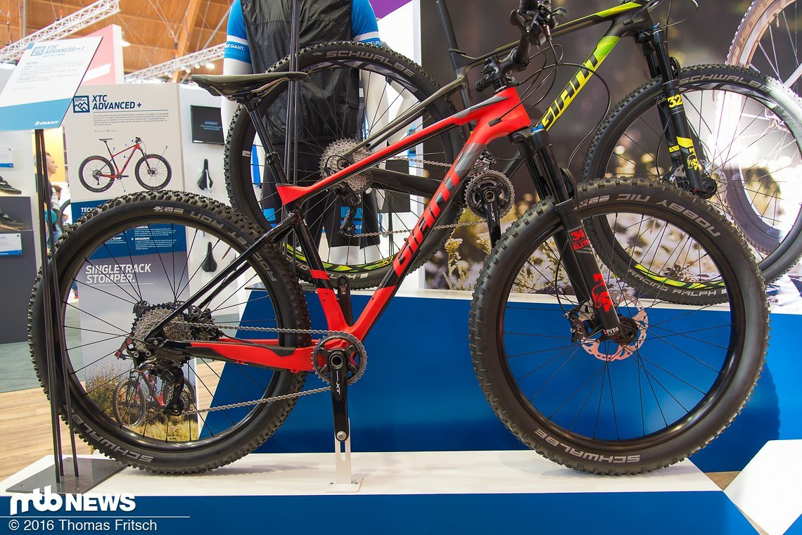 Das Giant XTC Advanced + mit dicker Plus-Bereifung