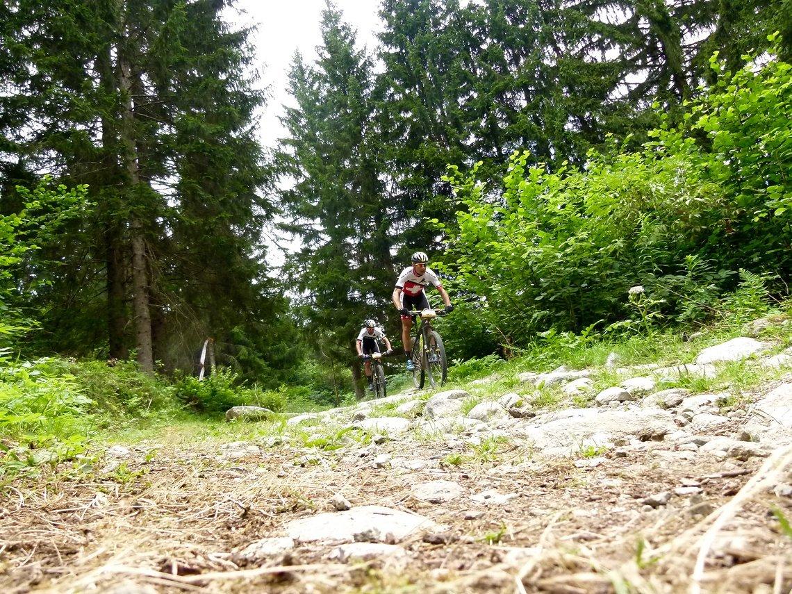 Karl Platt und Urs Huber im Zielanflug auf Mezzana