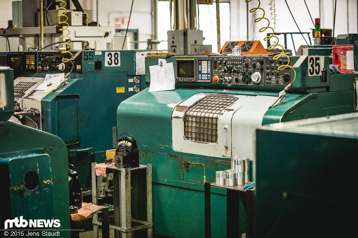 """Der benachbarte Machine-Shop wurde von Clints Vater hochgezogen. Hier werden auch jede Menge """"Nicht-""""MTB Produkte gefertigt."""