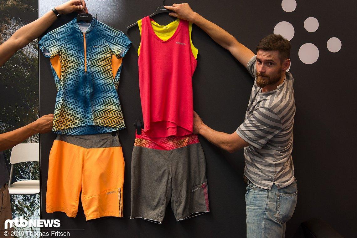 Wolfgang Lagler präsentierte uns die neusten Klamotten von Craft.