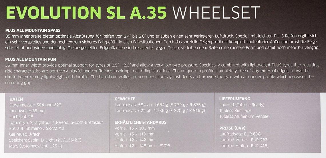 Evolution SL A.35 Details