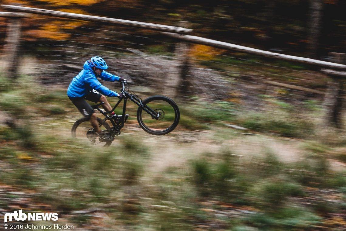 Das One-Sixty lässt sich leicht aufs Hinterrad bewegen
