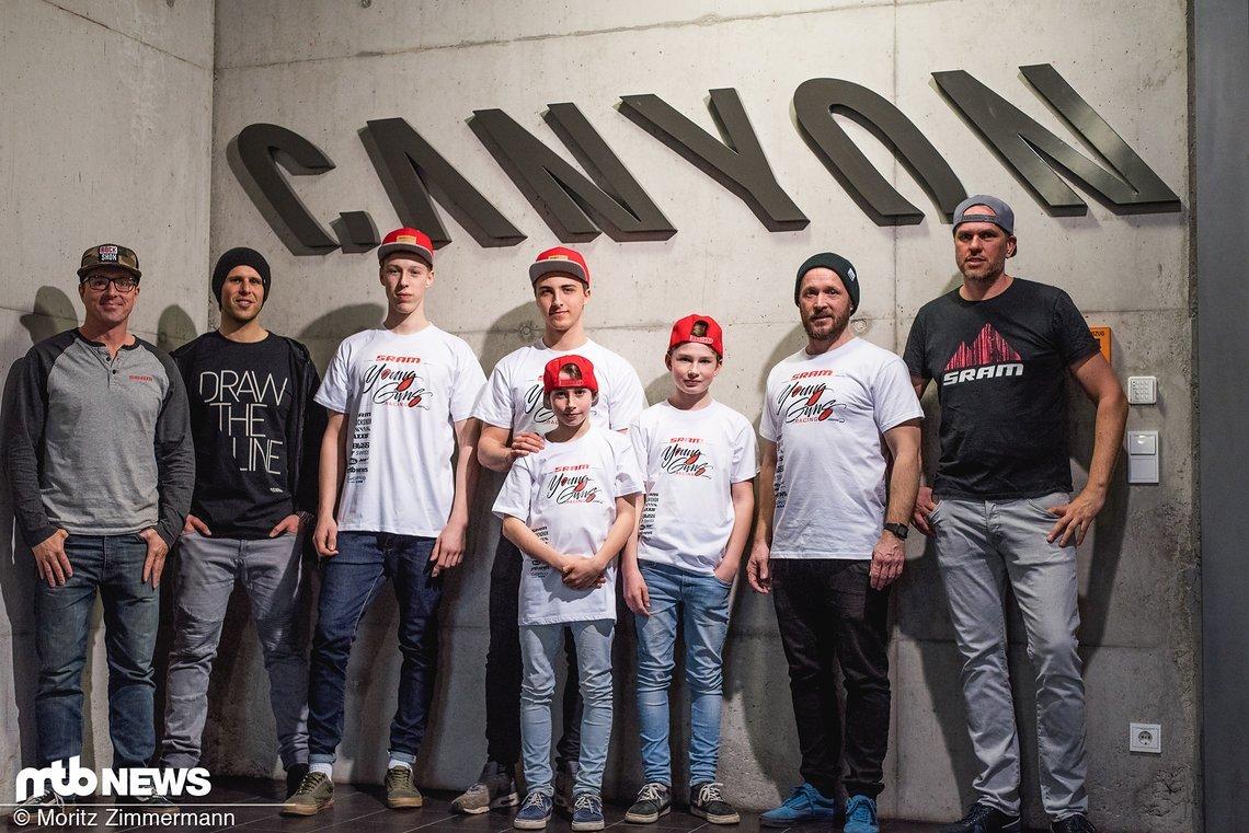 Perfekte Voraussetzungen für die kommende Saison: Mit der Unterstützung von SRAM, Canyon und vielen weiteren Partnern gehen die Young Guns ins neue Jahr