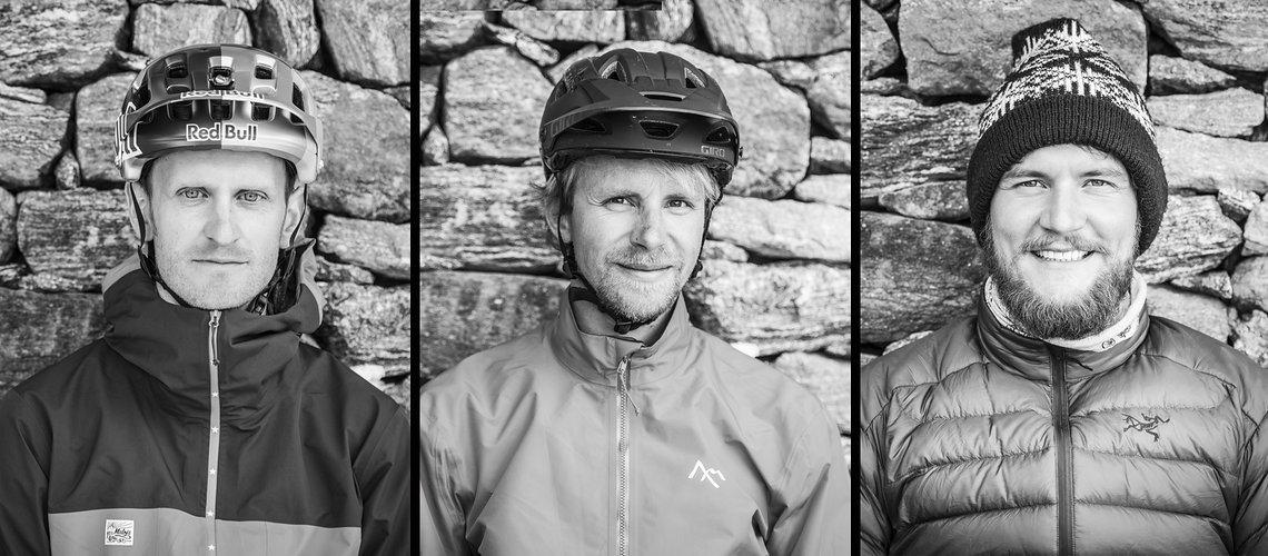 Die drei Abenteurer: Tom Oehler, Philipp Harald und Fotograf Stefan Voitl