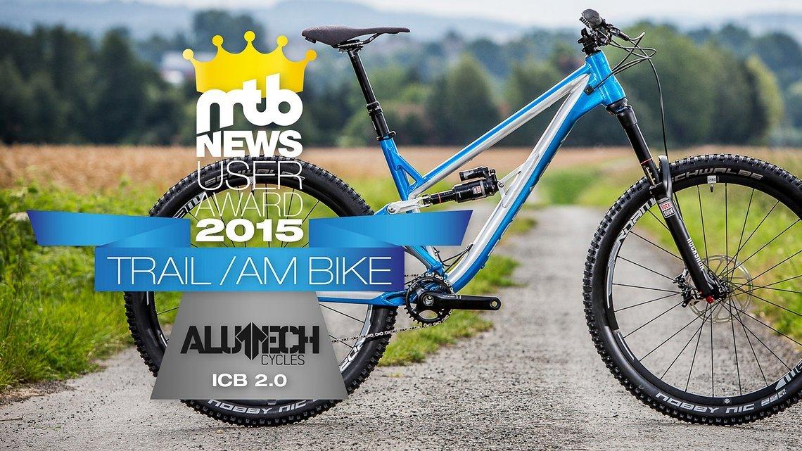 """Mit hauchdünnem Vorsprung konnte sich das Community-Projekt Alutech ICB 2.0 den Titel als """"Trail / AM-Bike des Jahres"""" 2015 sichern..."""