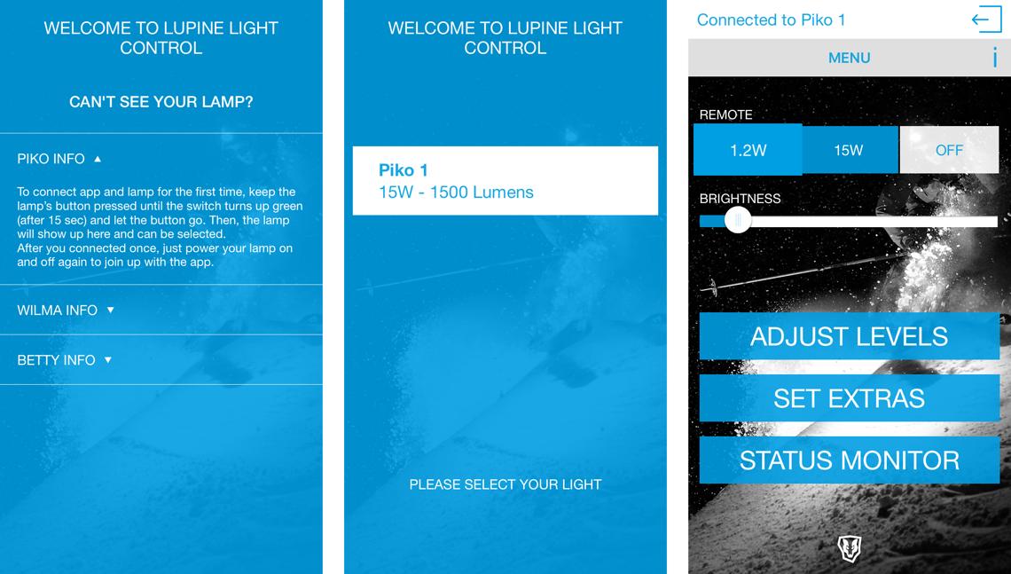 Lupine Smart Control Smartphone App