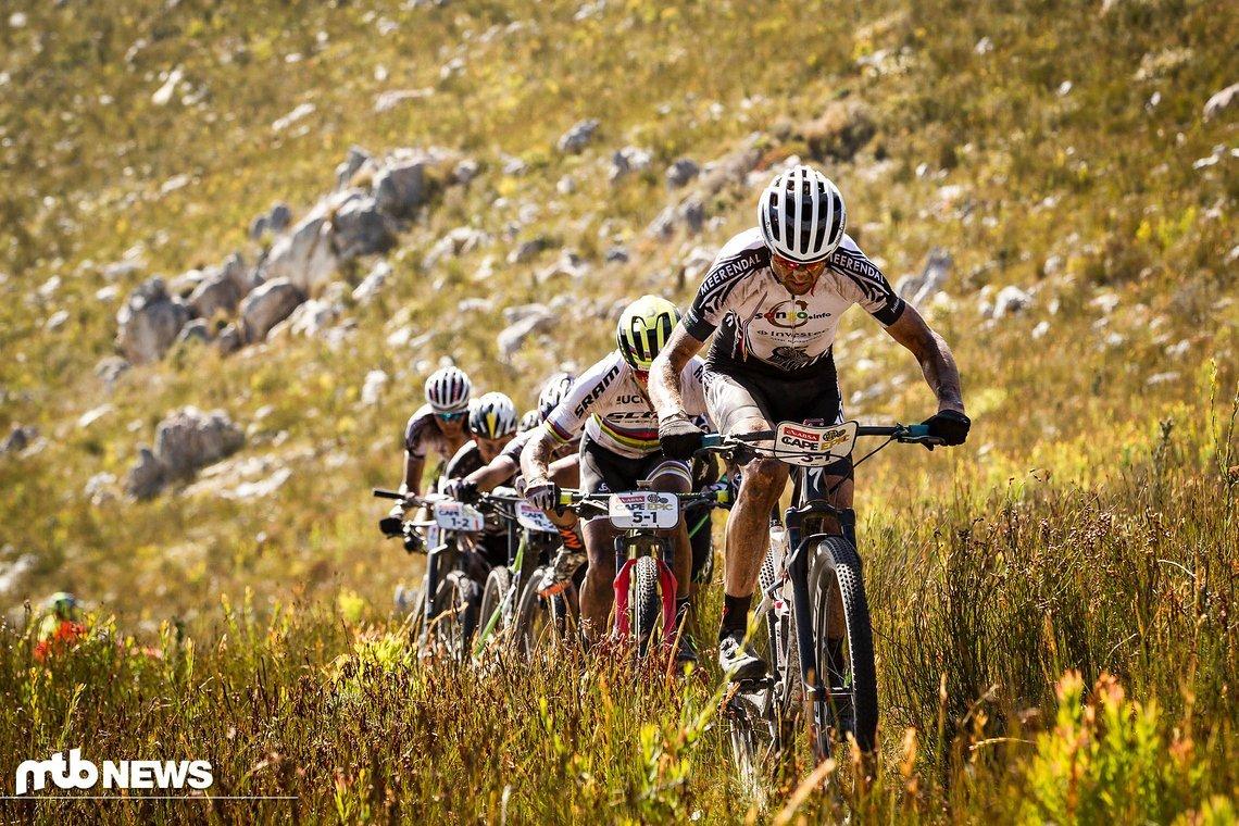 Christoh Sauser sorgte mit einer Tempoverschärfung am Berg für eine rennentscheidende Situation