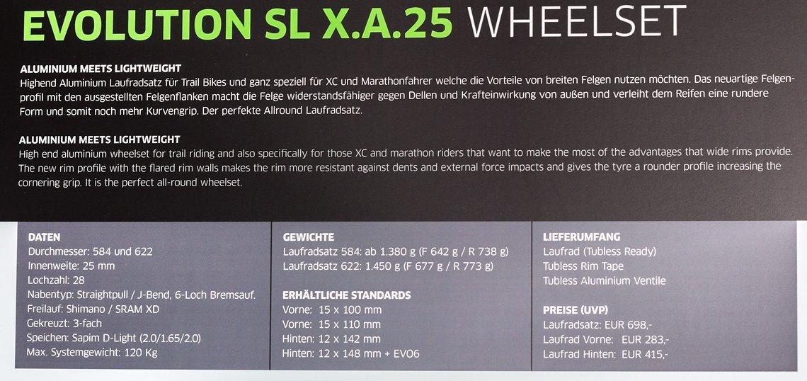 Evolution SL X.A.25 Details