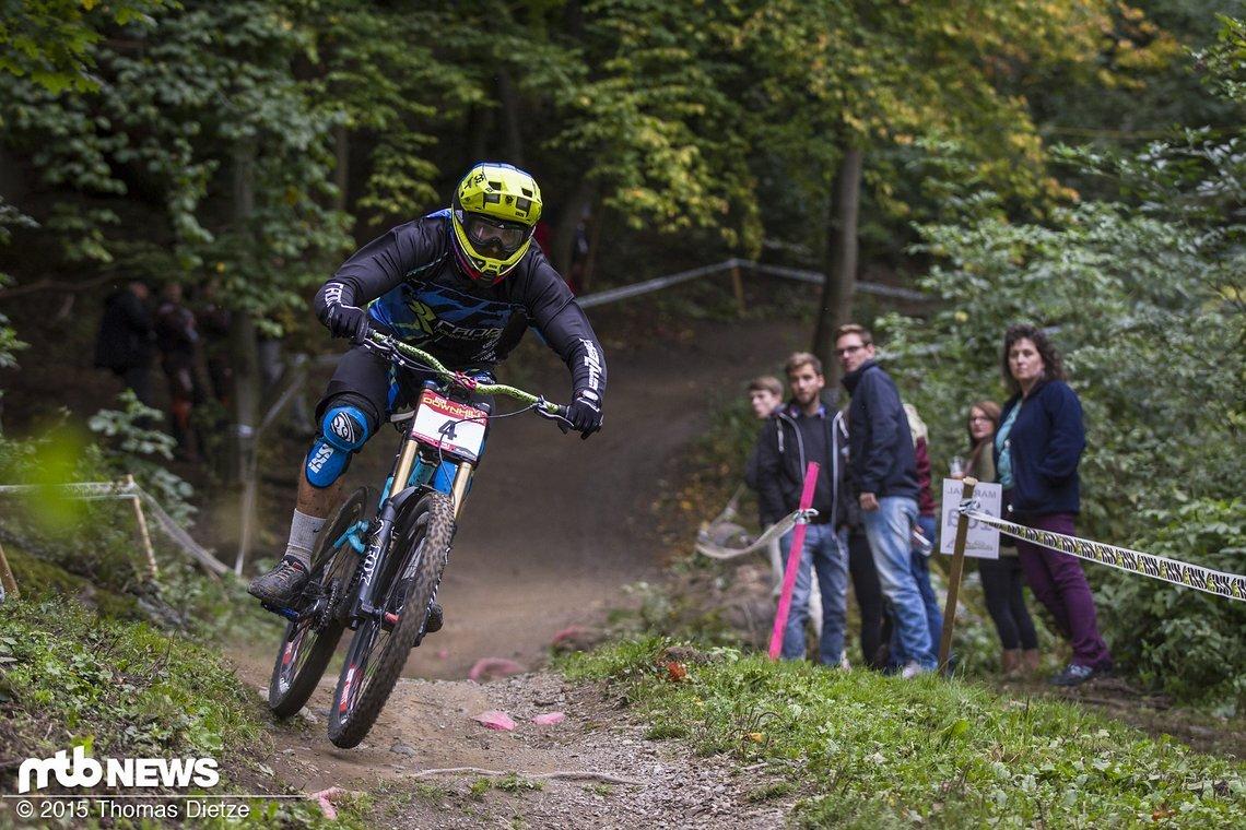 Andreas Sieber bei seinem letzten professionellen Rennen seiner Karriere / Thale