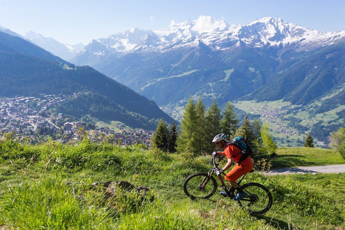Im Uphill zeigte das Bike seine Stärken