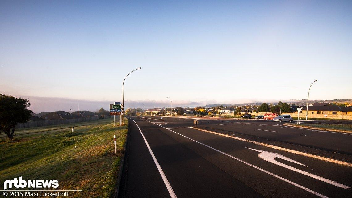 Ortseinfahrt Taupo