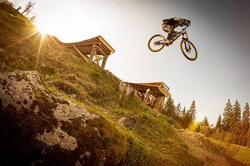 Stepdown im Bikepark Brandnertal