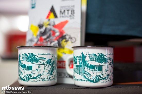Jeder Starter bekommt in Form einer DM-Tasse ein ganz besonderes Andenken an das Rennen