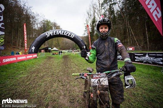 Der schnellste Mann des Tages - Tejchman Premek freut sich über seinen Sieg
