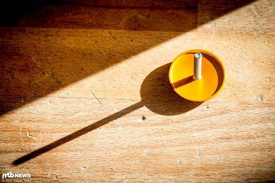 Minimalismus: die Ahead-Kappe ist auf das absolute Minimum abgedreht, die Schraube zwei Nummern kleiner als normal
