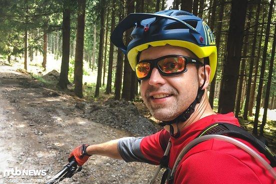 Marcus mit bester Laune bei seinem ersten Enduro-Rennen