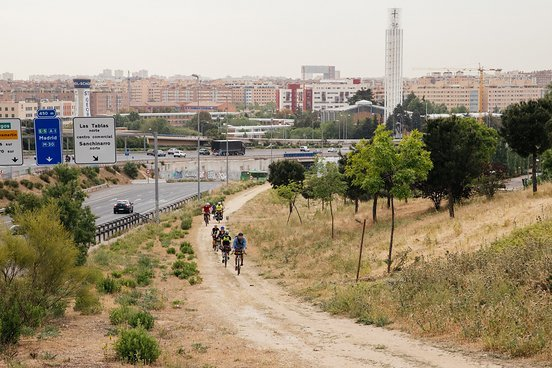 Trails im Stadtgebiet von Madrid