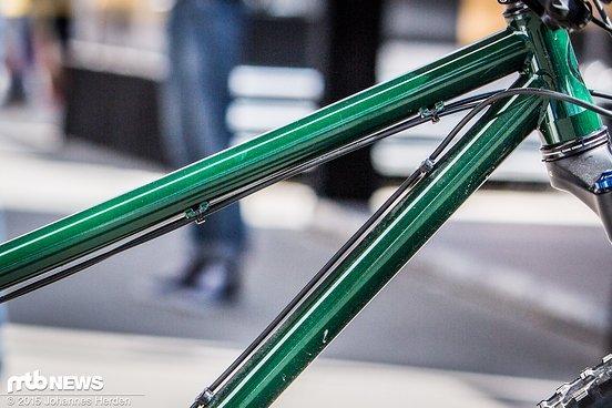 Von Last Bikes gewohnte klare Linien, hier mit Lasurlack gepulvert