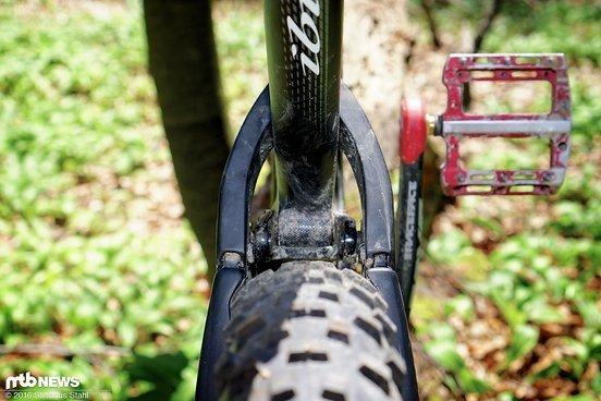 """Mit den 2,8"""" Plus-Reifen eher knapp"""