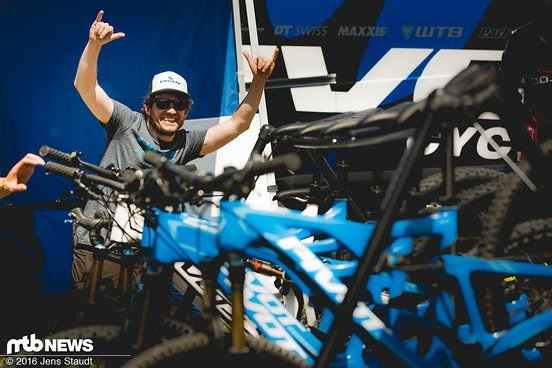 Wer wollte konnte sich Bikes von Pivot ausleihen...