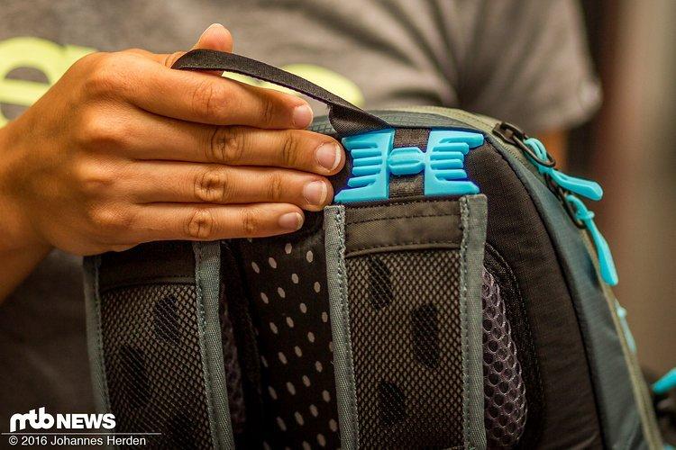 Flexible Schultergurte sollen für guten Tragekomfort und Beweglichkeit sorgen