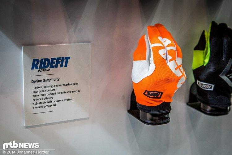 Etwas robuster als der 100% Celium aber immer noch sehr leicht soll der 100% Ridefit Handschuh sein.