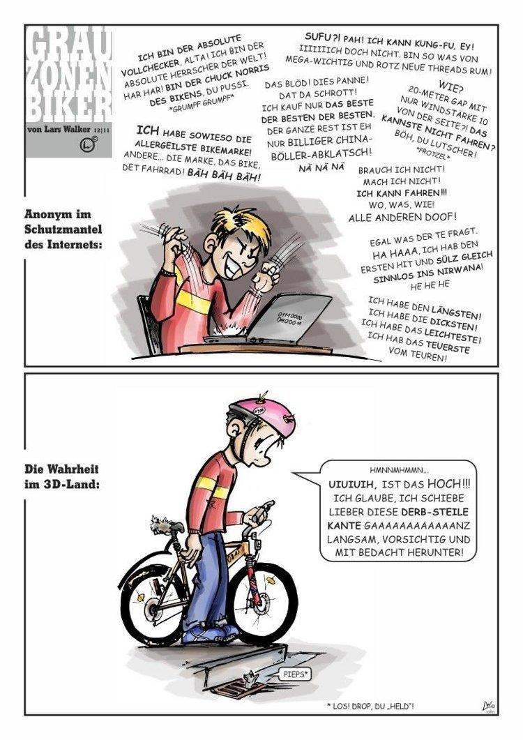 Grauzonenbiker Lars hat das Thema bashing schon lange auf dem Schirm.
