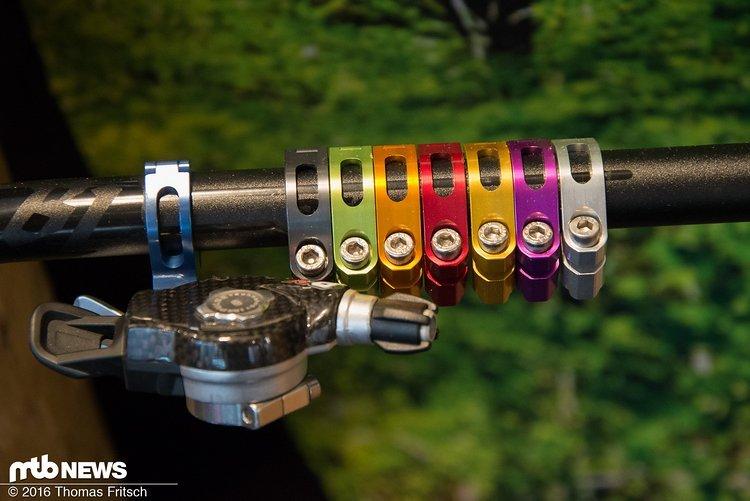 Durch bunte Eloxalfarben lassen sich die Komponenten von Trickstuff perfekt zum Rest des Rades abstimmen.