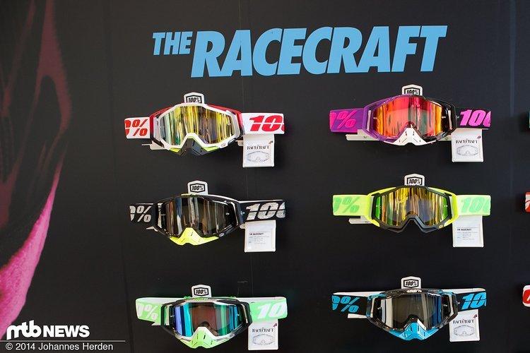 Die 100% Racecraft ist das Top-Modell der Goggles - hier werden diverse Farb- und Filterkombinationen angeboten