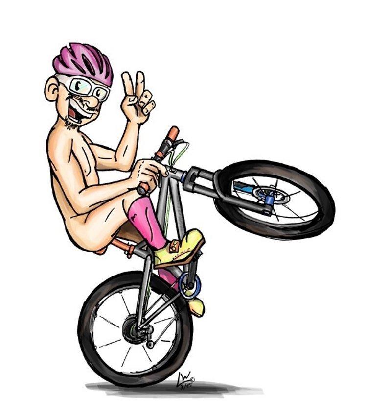 Wenn ich dann zu euch komme, könnte das so aussehen. Muschi goes Grauzonenbiker.