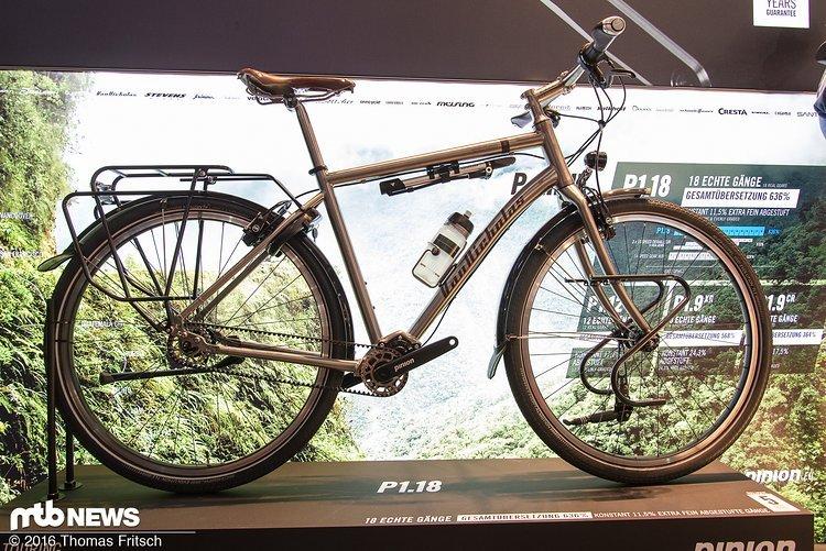 Pinion C-Getriebe verbaut in einem Tourenbike.