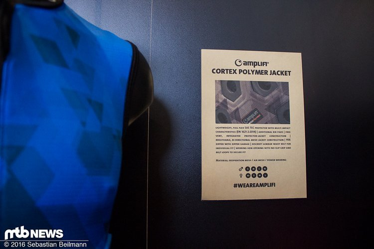 Die Cortex Polymer-Kollektion kommt mit gut belüfteten Rückenprotektoren
